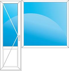 Thyssen-Deceuninck Bautec балконный блок 2150x1420