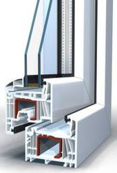 Окно пластиковое Brusbox выс.570 шир.1170мм двухстворчатое П/П